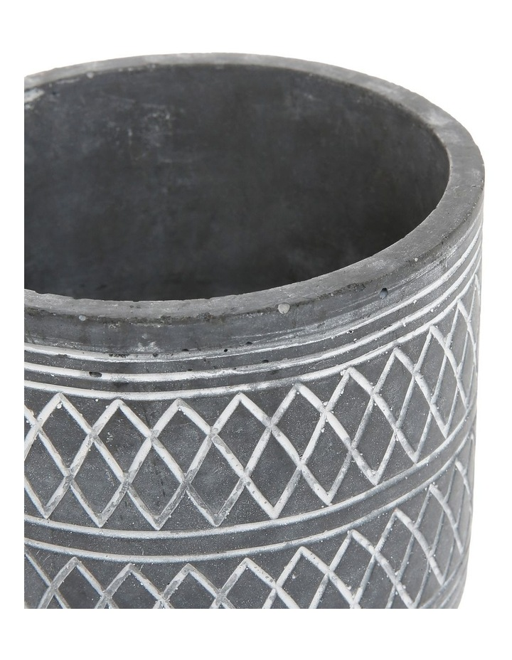 Cement Planter on Stand Small 12.5x12.5x16.5 image 2