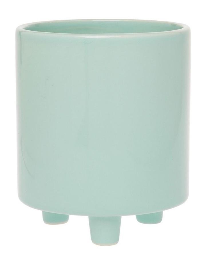 Ceramic Planter Blue 11x13cm image 1