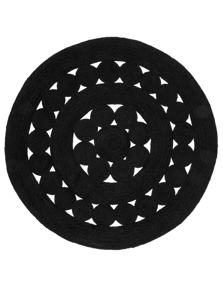 Cut-out Round Jute Rug 150cm image 1
