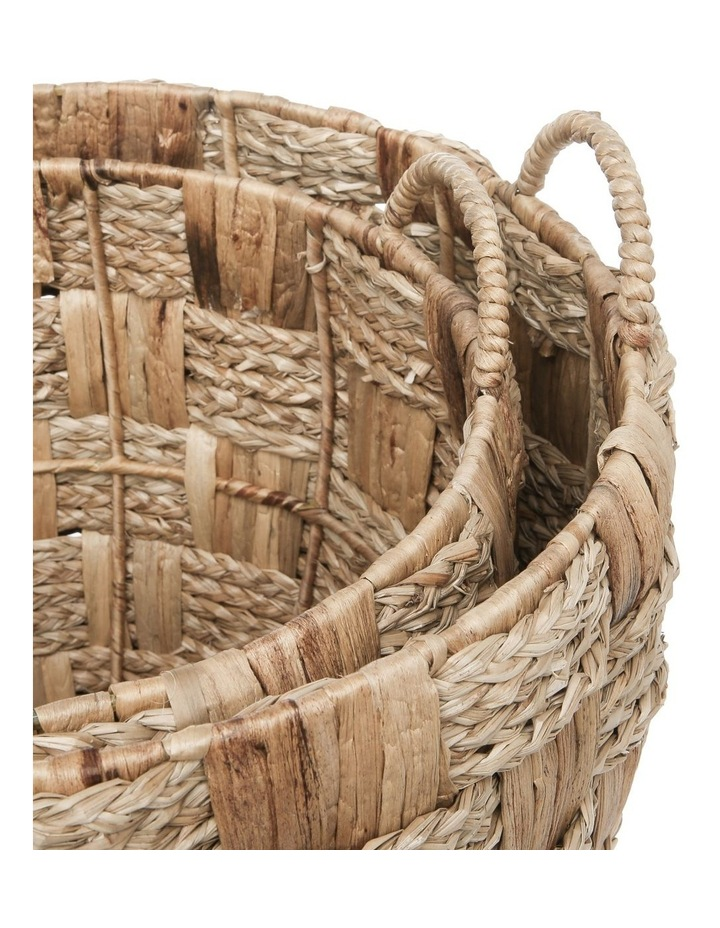 Set of 2 Cross Weave Round Baskets image 2