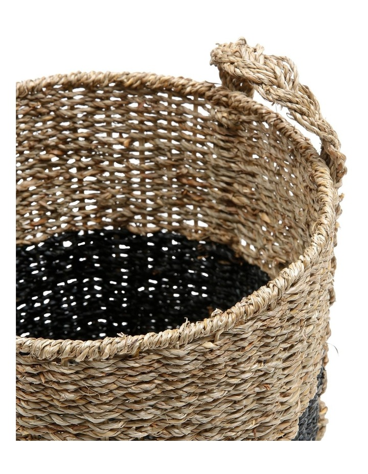 Set of 3 Two-tone Seagrass Baskets image 2