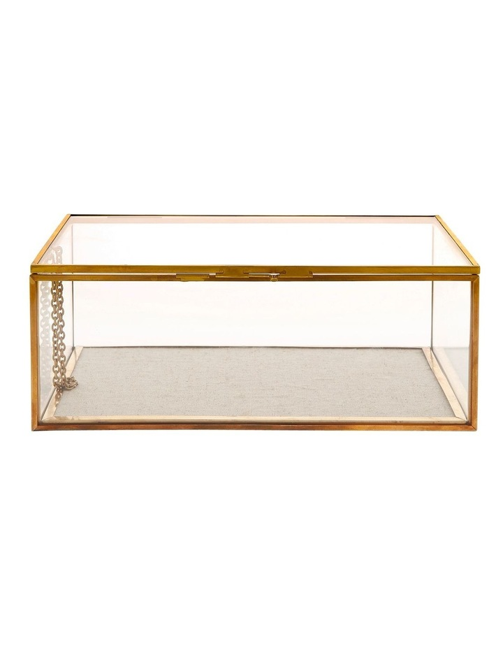 Glass Jewellery Box with Gold Frame Small image 1