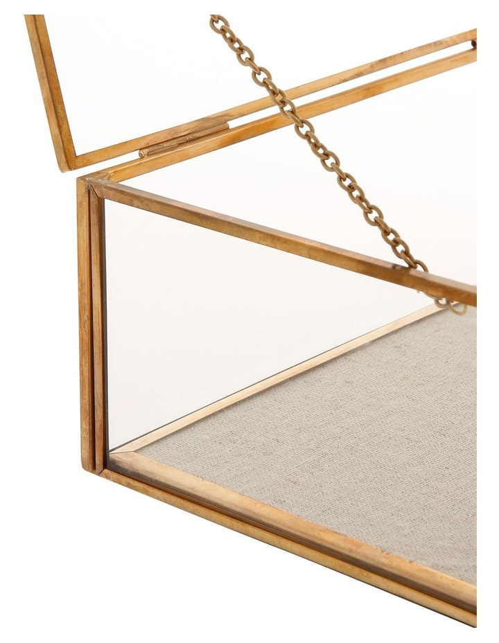 Glass Jewellery Box with Gold Frame Small image 3
