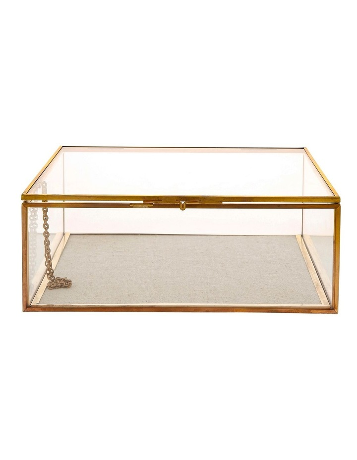 Glass Jewellery Box with Gold Frame Large image 1