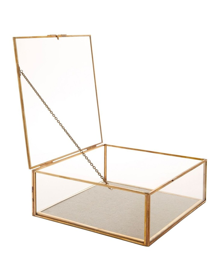 Glass Jewellery Box with Gold Frame Large image 2