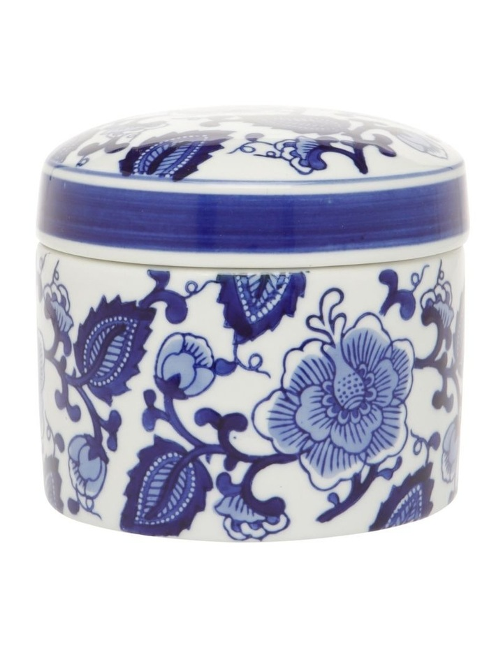 Hand-painted Cylindrical Canister image 1