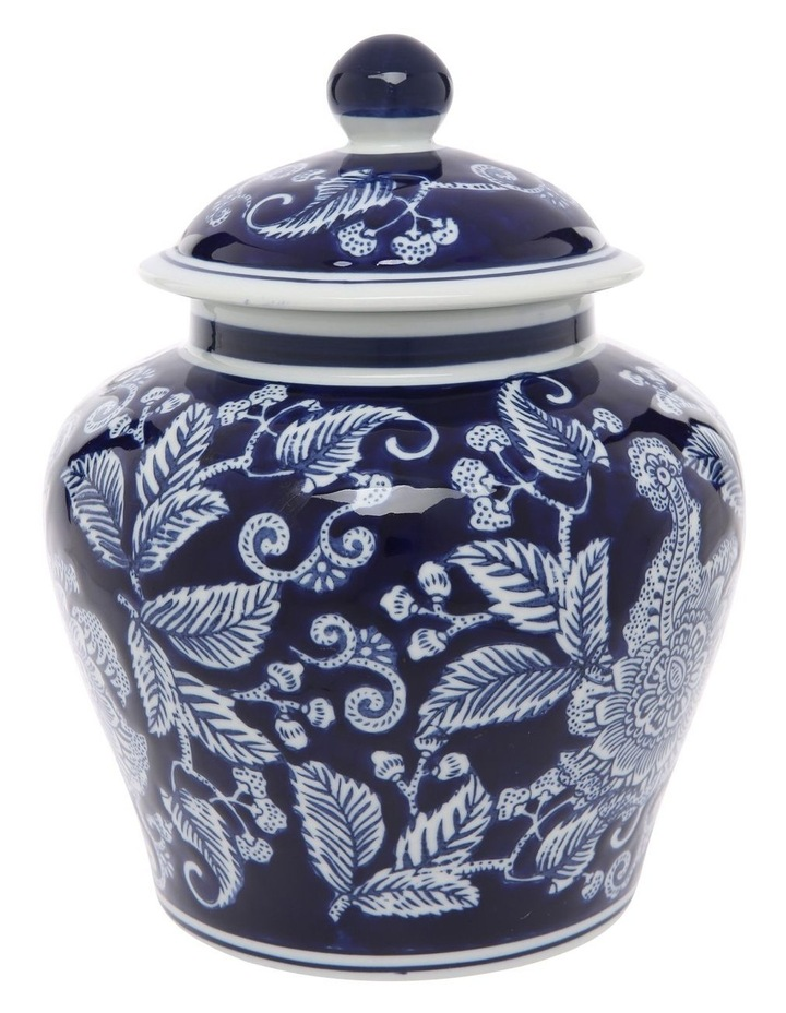 Hand-painted Round Ginger Jar image 1