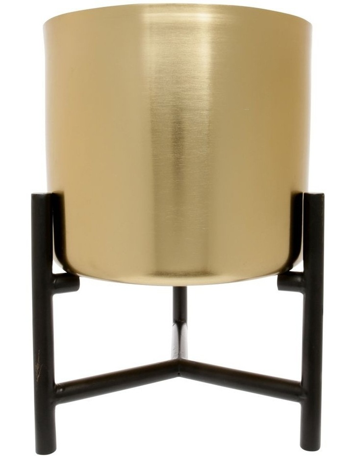 Vue Steel Planter with Stand Gold 38.6cm image 1