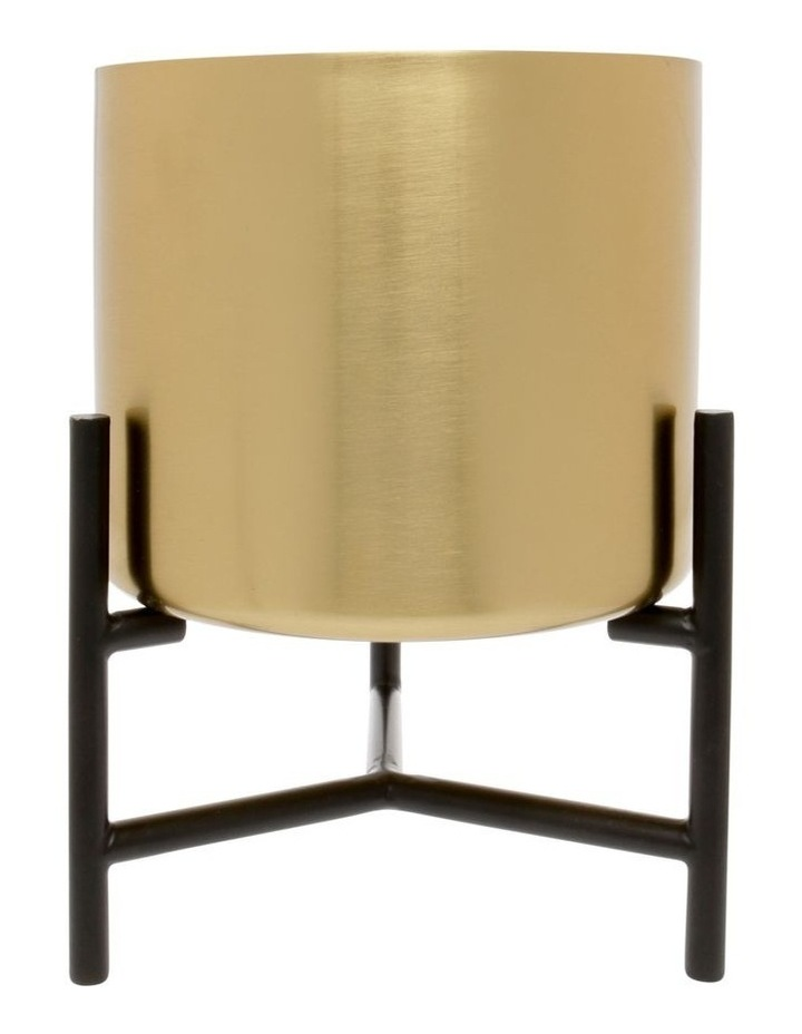 Steel Planter with Stand Gold 29cm image 1