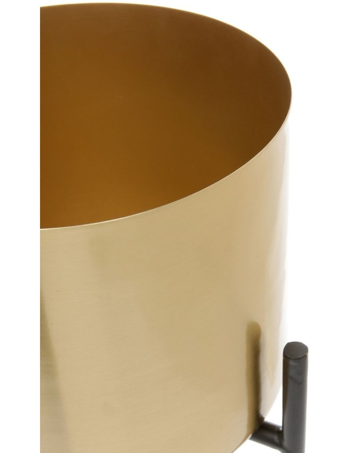 Steel Planter with Stand Gold 29cm image 2