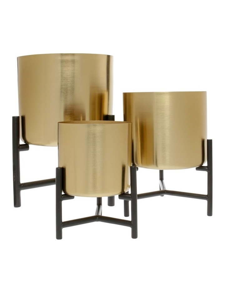 Steel Planter with Stand Gold 29cm image 3
