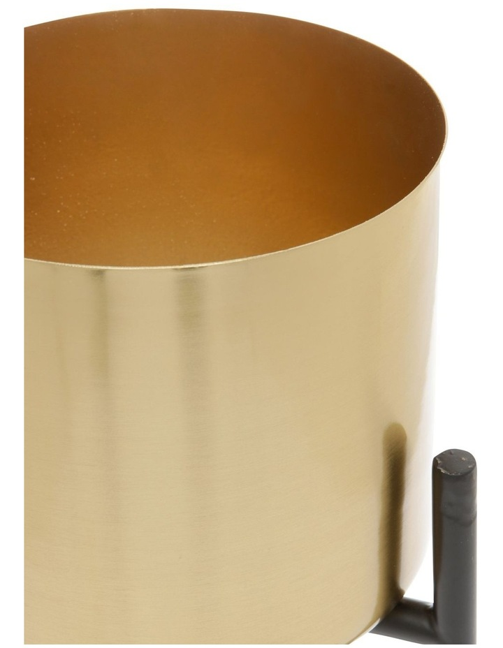 Steel Planter with Stand Gold 22cm image 2