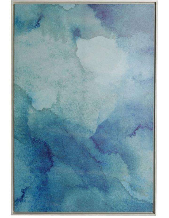 Ocean Aqua Framed Canvas Print (80x120cm) image 1