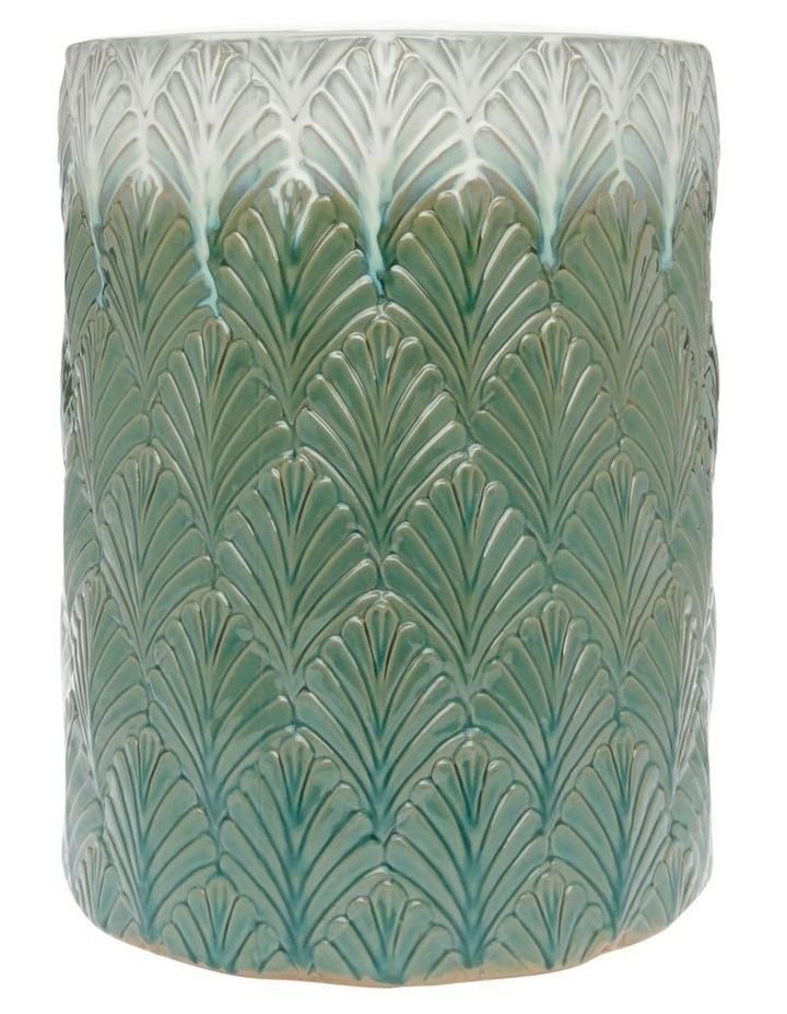 Embossed Ceramic Stool image 1