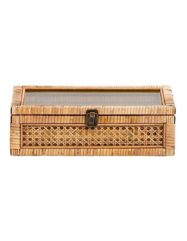 Rattan Box with Glass Lid 37x24.5cm image 1