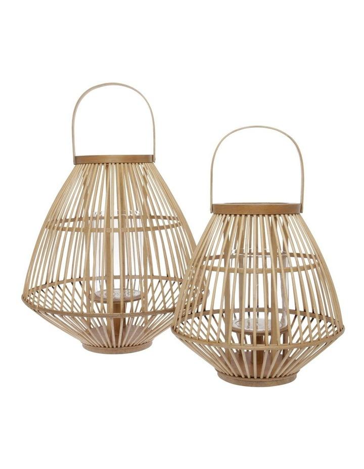 Natural Bamboo Lantern - 36cm image 3