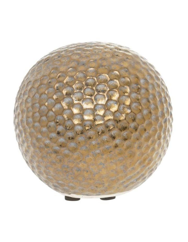 Hammered Effect Stoneware Deco Ball Bronze image 1