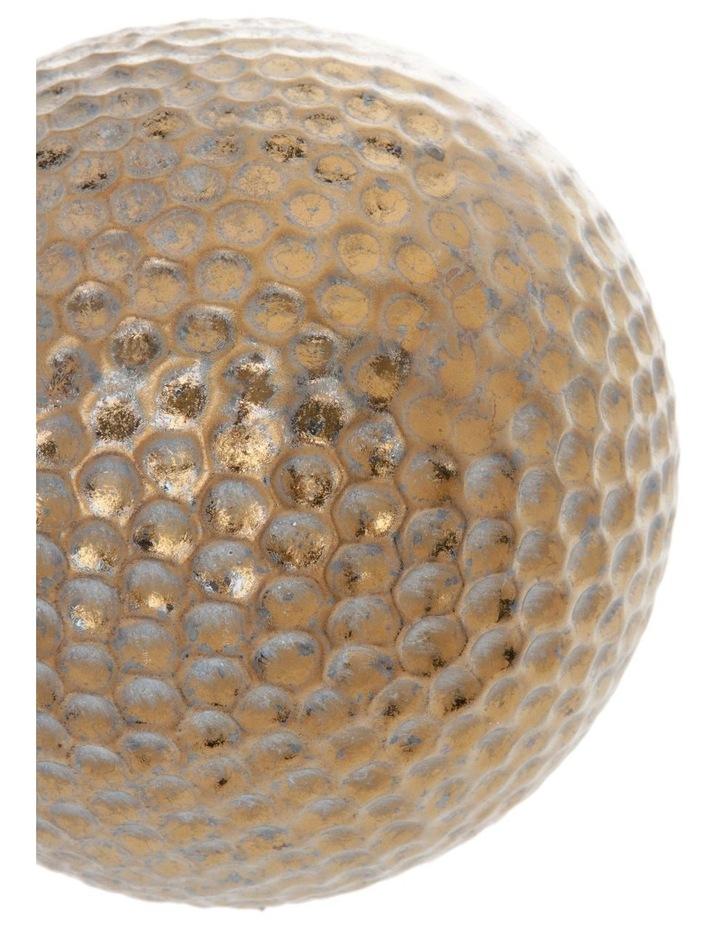 Hammered Effect Stoneware Deco Ball Bronze image 2