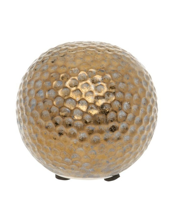 Hammered Effect Stoneware Deco Ball Bronze image 1