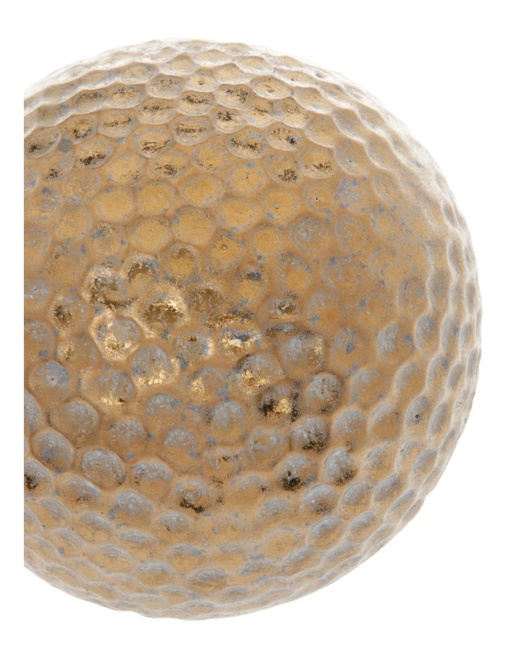 Hammered Effect Stoneware Deco Ball Bronze image 2