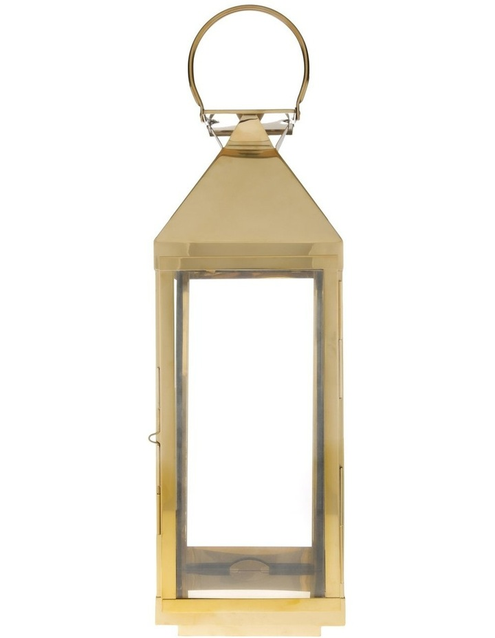 Gold-Tone Stainless Iron & Glass Lantern - 59cm image 1