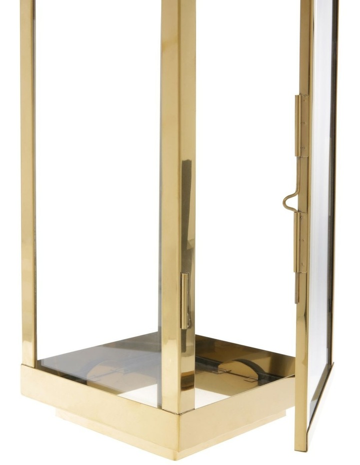 Gold-Tone Stainless Iron & Glass Lantern - 59cm image 3