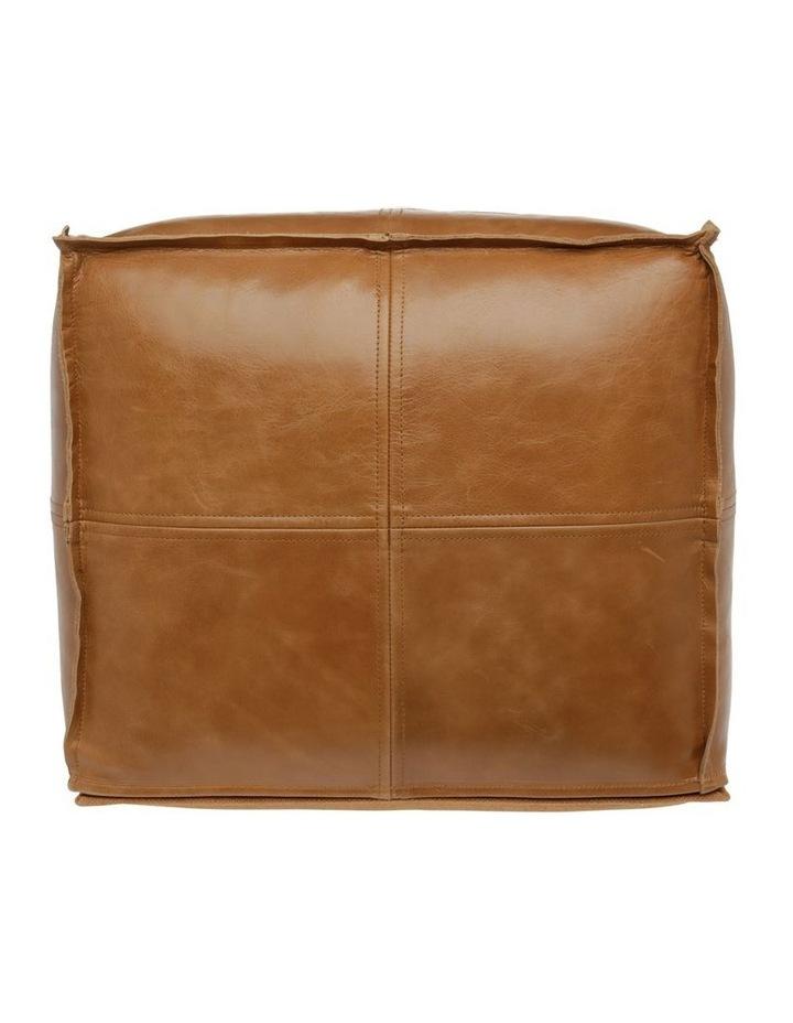 Leather Pouf Tan image 1
