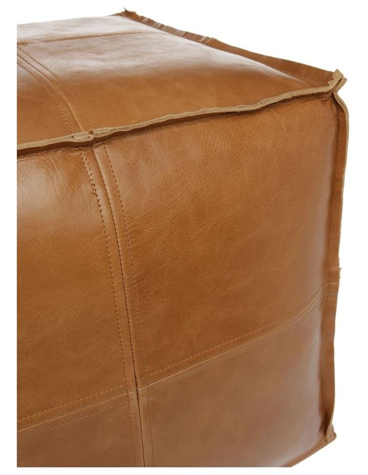 Leather Pouf Tan image 3