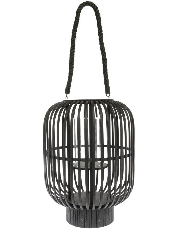 Bamboo Lantern 39cm Black image 1
