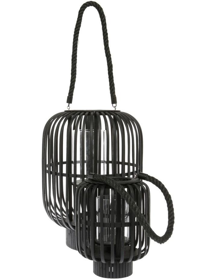 Bamboo Lantern 39cm Black image 3
