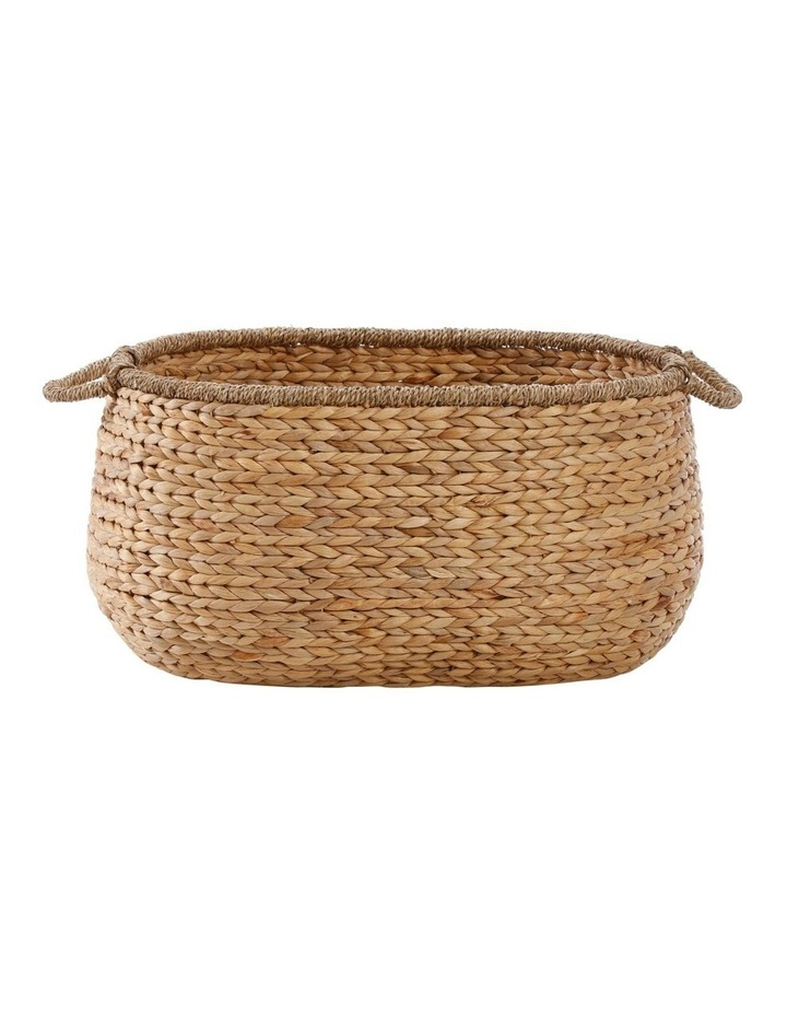 Water Hyacinth and Seagrass Basket with Handle image 1
