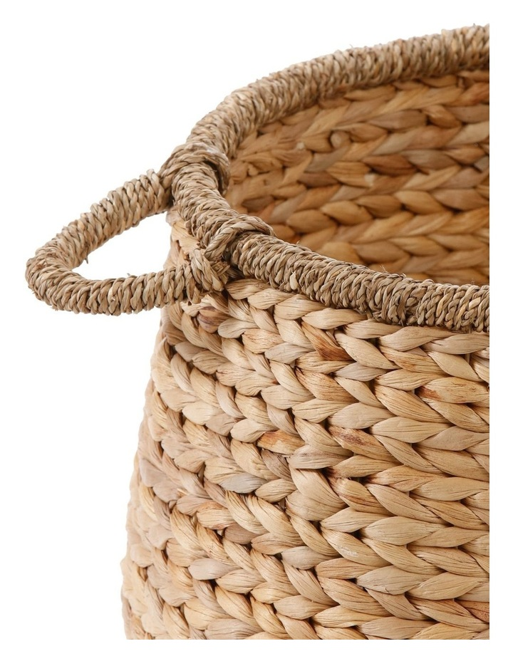 Water Hyacinth and Seagrass Basket with Handle image 2
