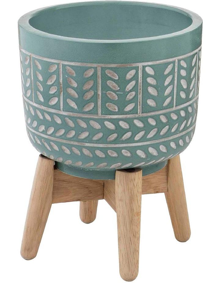 Vue Bodil Planter Pot On Stand Sage 16x43cm image 1