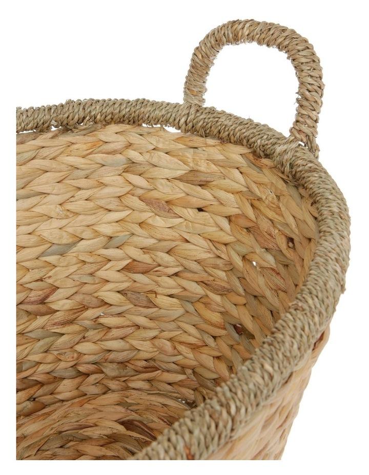 Large Light Brown Water Hyacinth Basket image 2