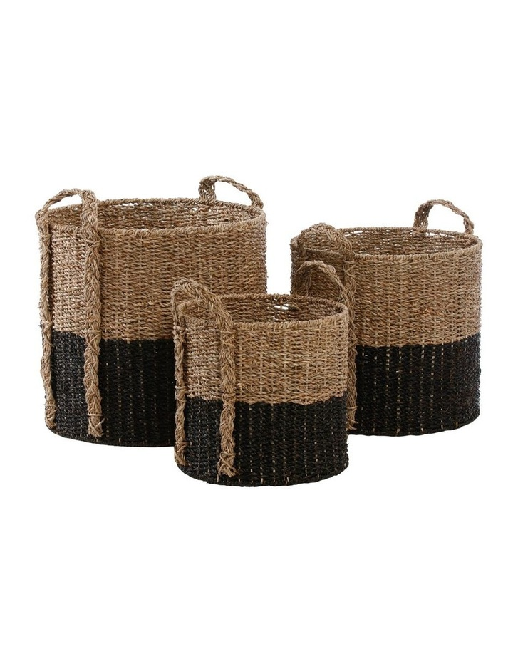 Two-tone Seagrass Basket image 1