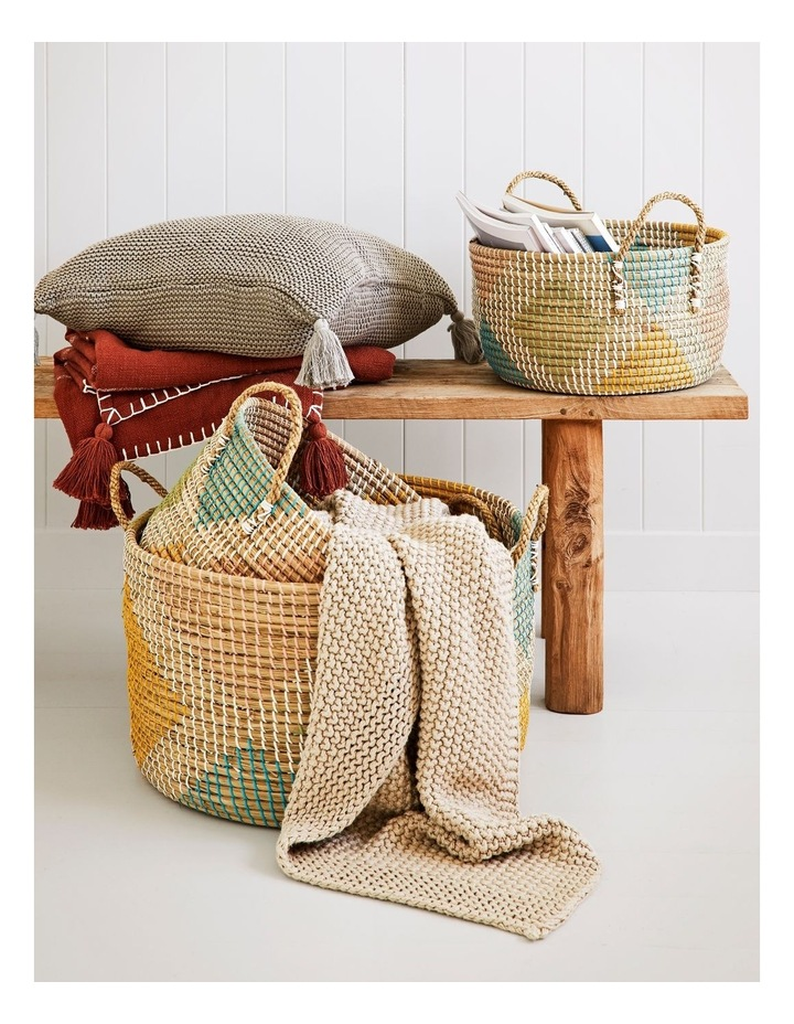 Multicoloured Patterned Woven Baskets image 2