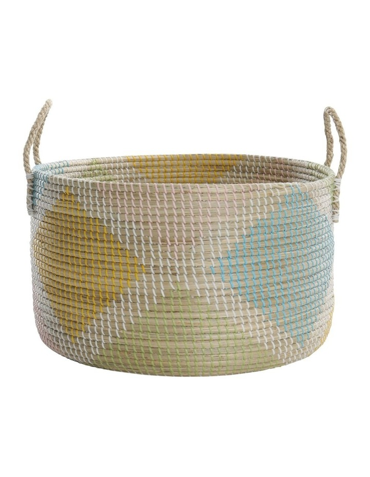 Multicoloured Patterned Woven Baskets image 3