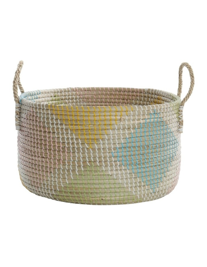 Multicoloured Patterned Woven Baskets image 4