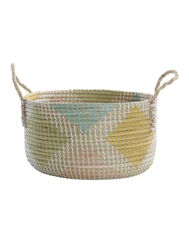 Multicoloured Patterned Woven Baskets image 5