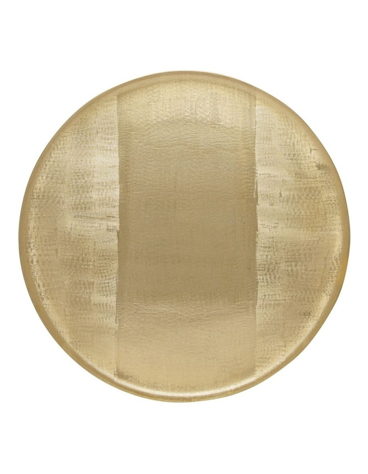 Round Brushed Metal Tray Gold 50cm image 1