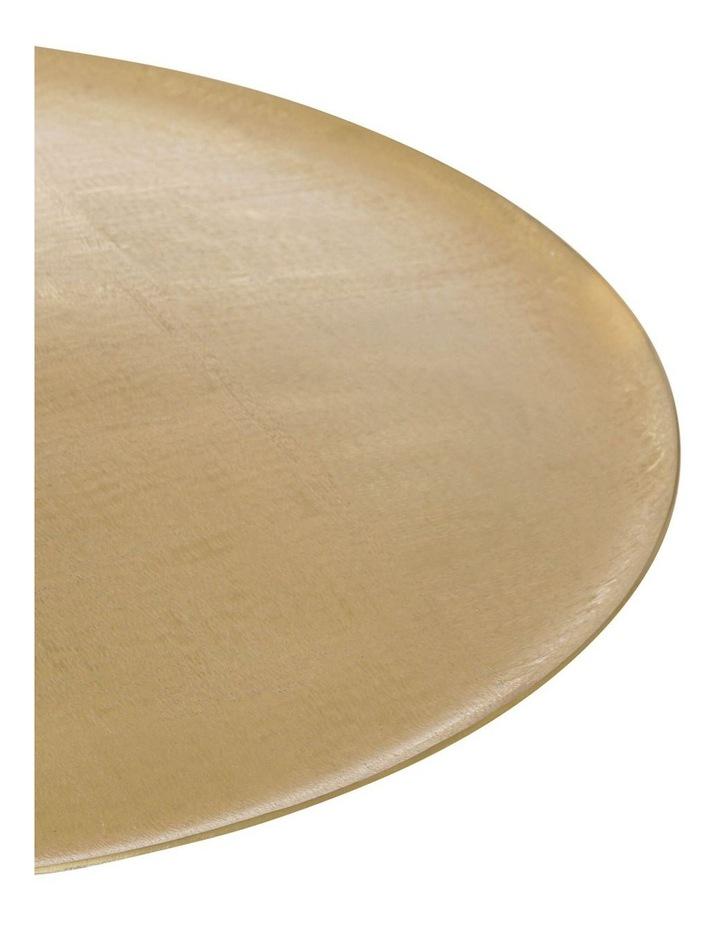 Round Brushed Metal Tray Gold 50cm image 2