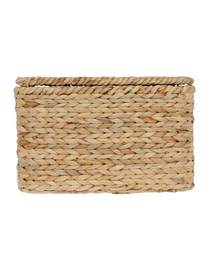Water Hyacinth Storage Box in Light Brown - 40x24cm image 1