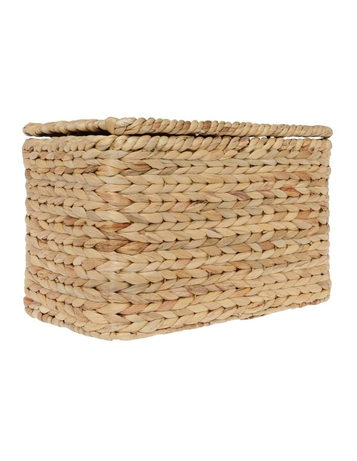 Water Hyacinth Storage Box in Light Brown - 40x24cm image 2