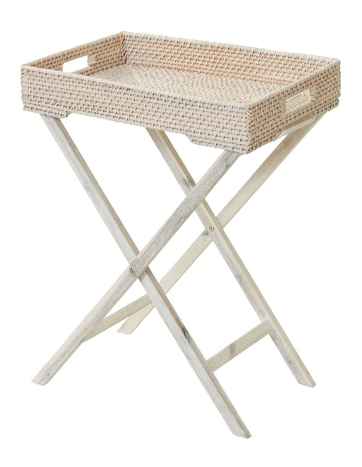 Haven Foldable Tray Table White Wash image 1