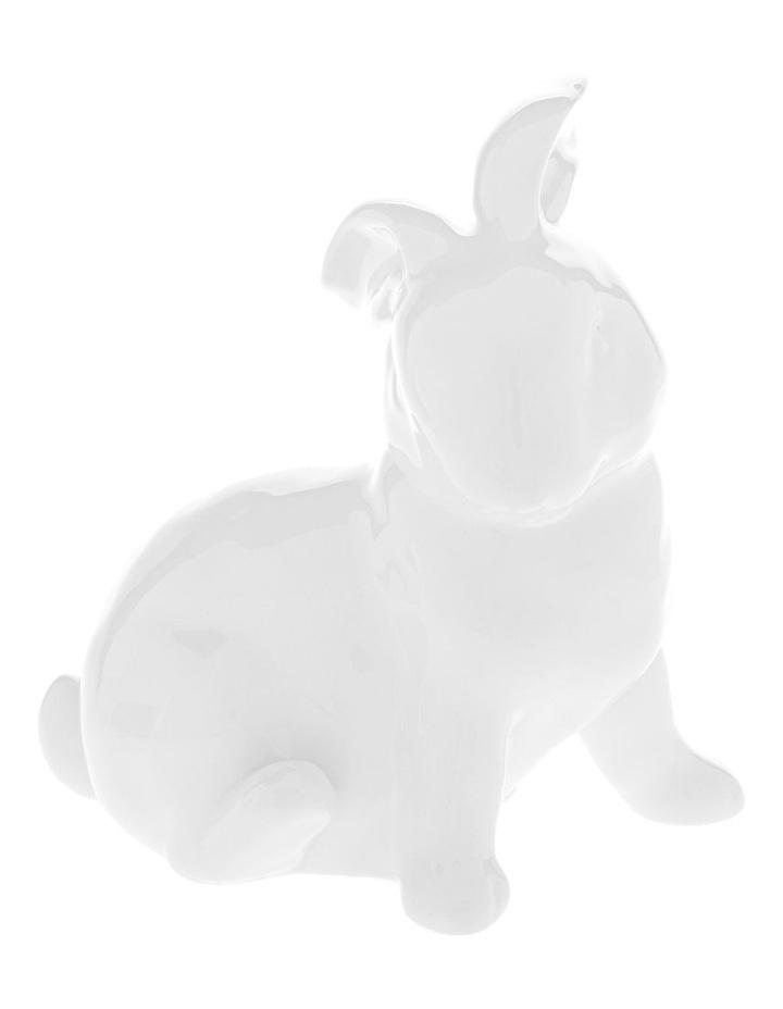 Assorted White Ceramic Sitting Bunny image 3