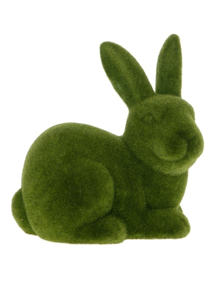 Sitting Green Moss Bunny image 1