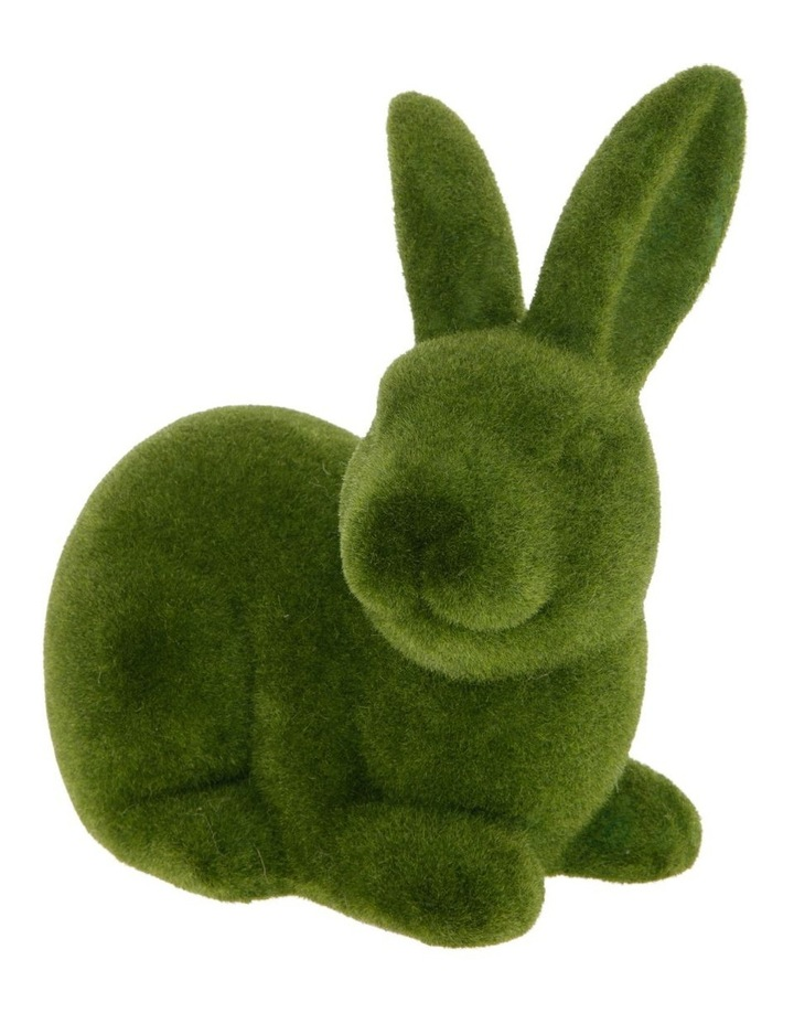 Sitting Green Moss Bunny image 2