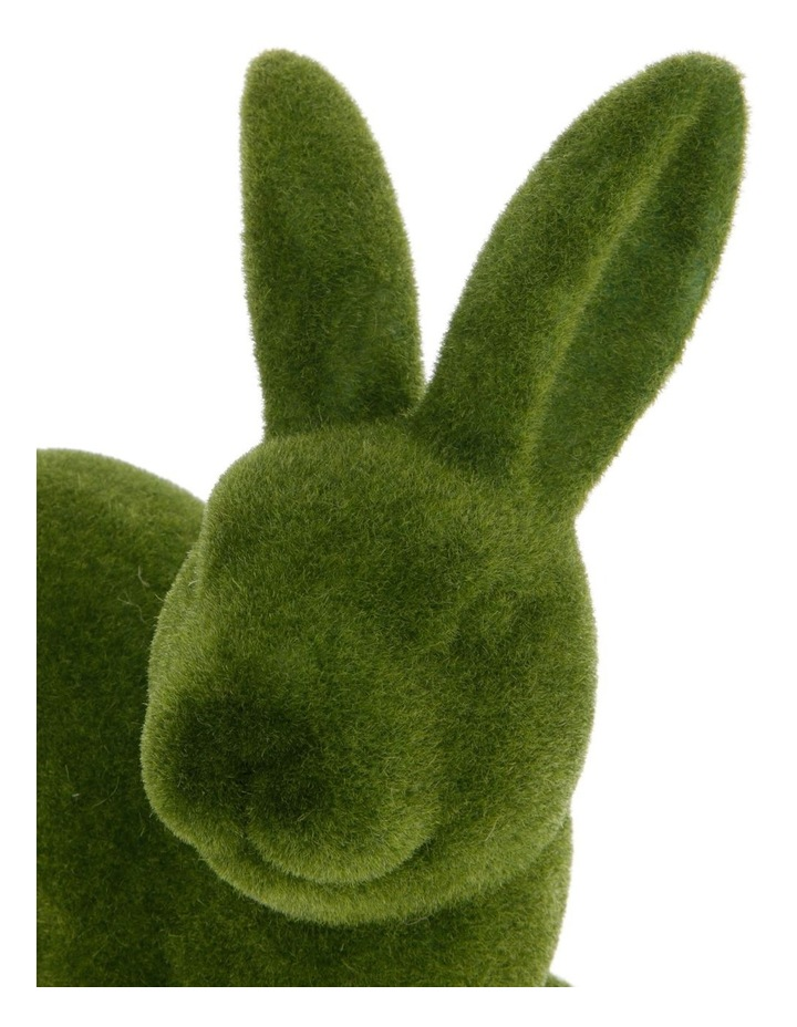 Sitting Green Moss Bunny image 3