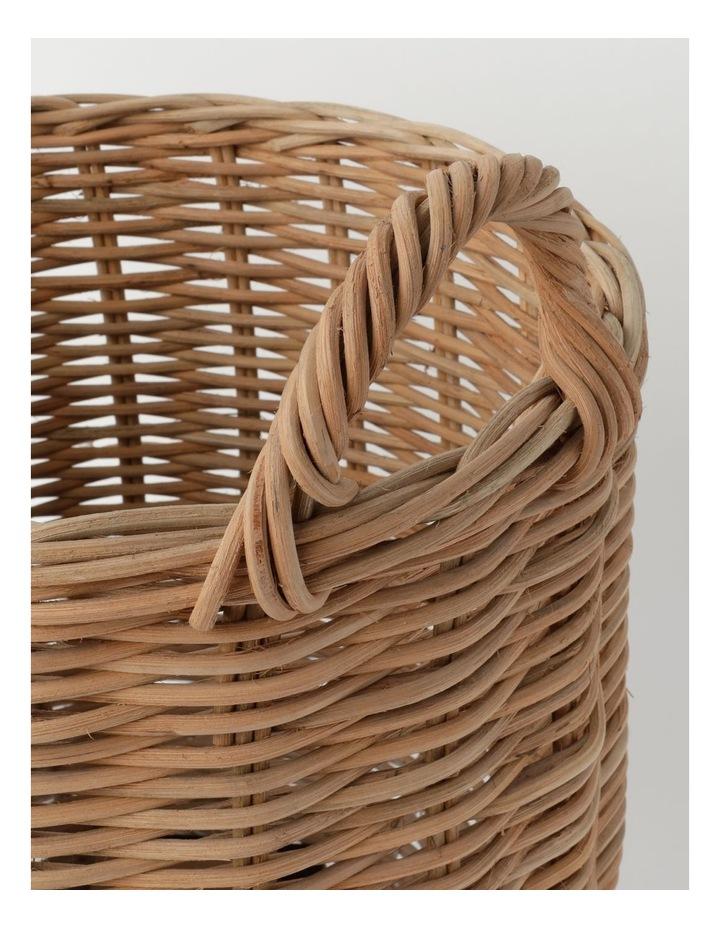 White Dipped Rattan Basket image 2