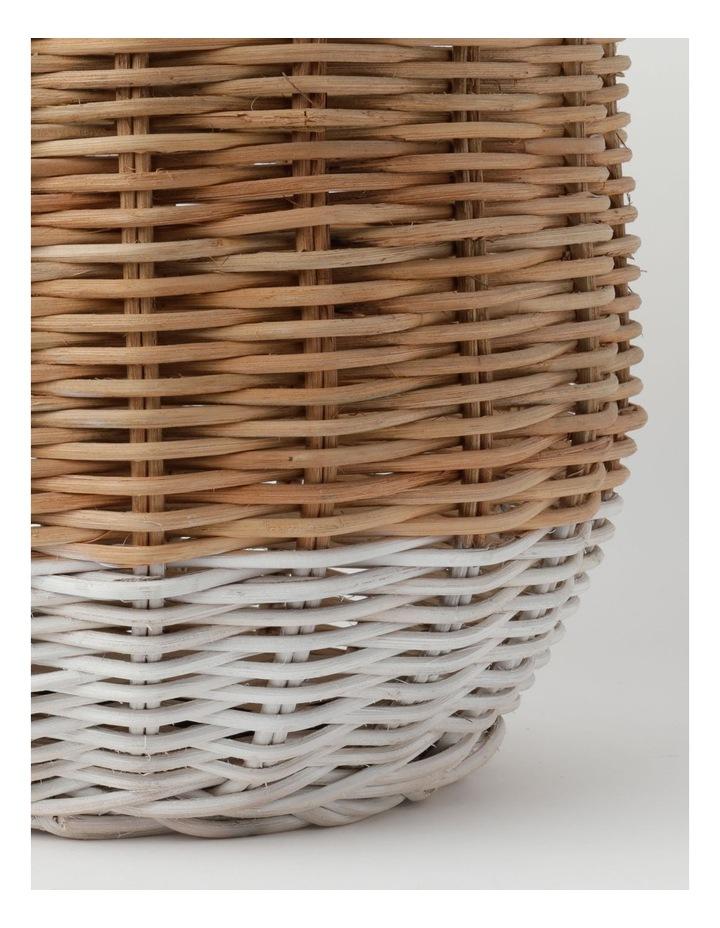 White Dipped Rattan Basket image 3